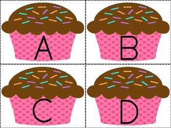 Cupcake Concentration: 3-in-1 Alphabet Matching Activity