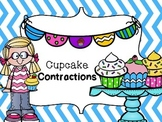 Cupcake Contractions - Cut and Paste Contraction Practice