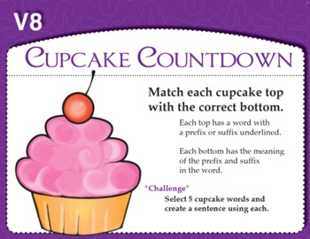 Cupcake Countdown (Common Core RF 3.3 A)