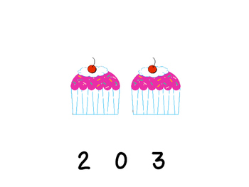 Cupcake Counting 1 to 10