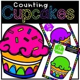"""Cupcake Counting - Bilingual Play-Doh Mats """"No Prep"""" (Engl"""