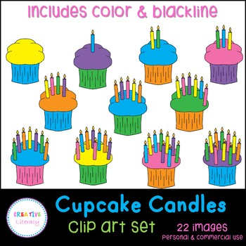 Cupcake Counting Clip Art