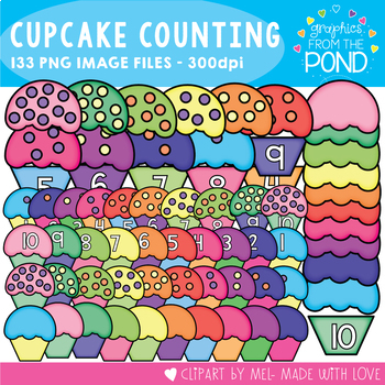 Cupcake Counting Fun - Clipart for Teaching Number