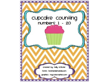 Cupcake Counting Posters 0 - 20