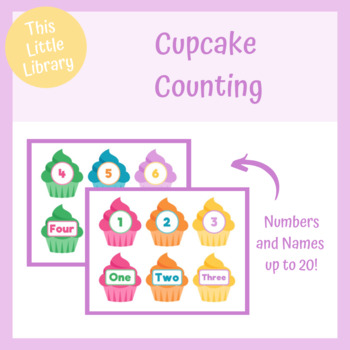 Cupcake Counting - PreK & Kindergarten Math Center - Counting Activity