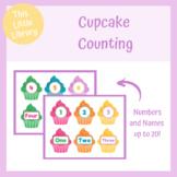 Cupcake Counting - PreK & Kindergarten Math Center - Count