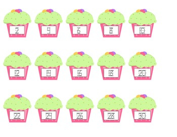Cupcake Counting by 2's
