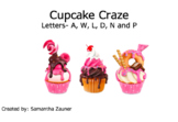 Cupcake Craze Braille File Folder Game