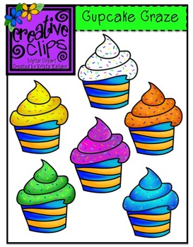 Cupcake Craze {Creative Clips Digital Clipart}