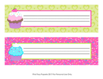 Cupcake Desk Name Plates Classroom Decor
