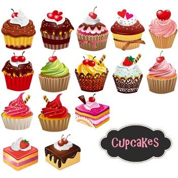 Cupcake Digital Clipart Cupcake Clip Art Digital Cake Clipart