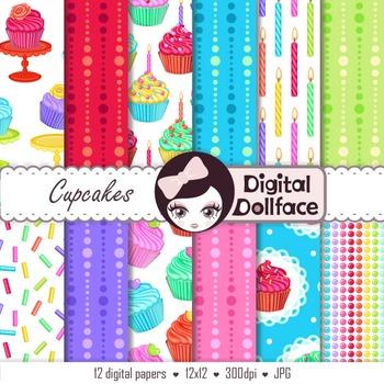 Cupcake Digital Paper