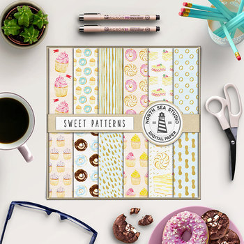 Cupcake Digital Paper {Pretty Graphics}