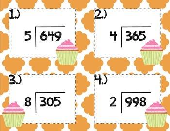 Cupcake Division Task Cards