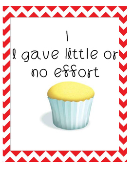 Cupcake Effort Rubric