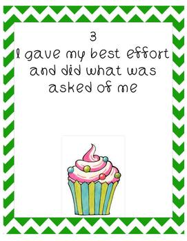 Cupcake Effort Rubric