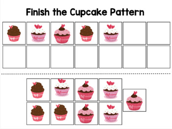 Cupcake File Folder Activities for Sorting, Counting, & Patterns