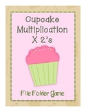 Cupcake File Folder Game- Multiplication x 2's