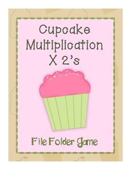 Cupcake File Folder Game- Multiplication x 2's