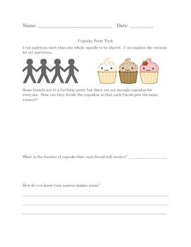 Cupcake Fraction Party
