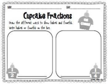 Cupcake Fractions {QR Code Math Center}