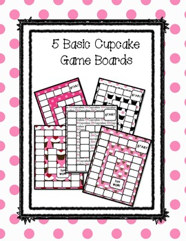 Cupcake Game Boards