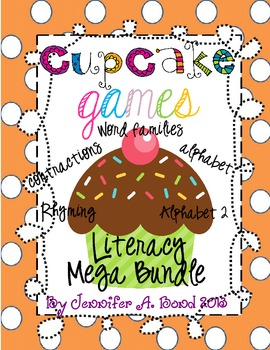 Cupcake Games Literacy Mega Pack