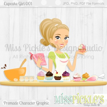 Cupcake Girl 001- Character Graphic, Home Ec Teacher Avatar