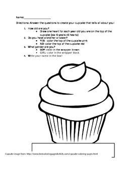 Cupcake Glyph Valentine's Day