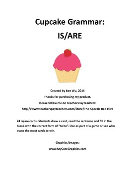 Cupcake Grammar: IS/ARE