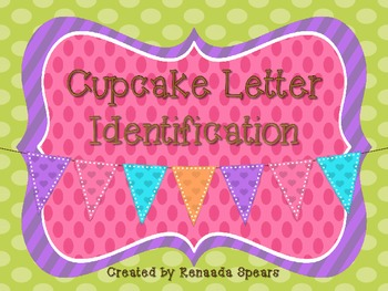 Cupcake Letter Identification Activity Worksheets