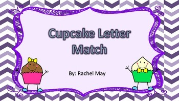 Cupcake Letter Match