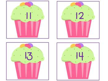 Cupcake Letter and Number Cards