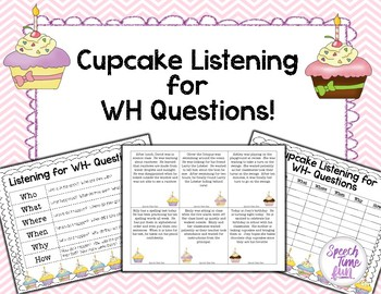 Wh Questions Stories Teaching Resources   Teachers Pay Teachers likewise  besides Cupcake Listening for WH  Questions   Activities  We and Student moreover Cupcake Listening for WH Questions from Speech Time Fun on likewise  furthermore Matching Sentences to Pictures WH Questions Interactive   Wh further Spring  WH  Questions with Answer Choices   Speech Language also  also Let's Talk  Speech and  munication Archives   The iMums besides  besides . on cupcake listening for wh questions