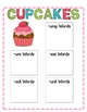 Cupcake Literacy Games