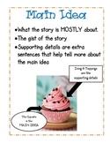 Cupcake Main Idea Anchor Chart