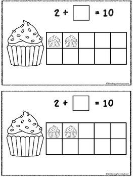 Cupcake Make 10 - A Ten Frame Booklet
