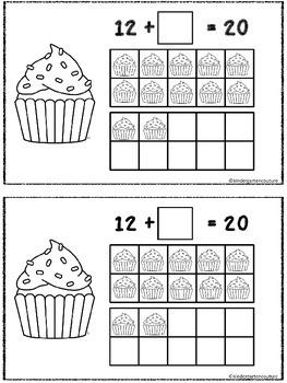 Cupcake Make 20 Double Ten Frame Booklet