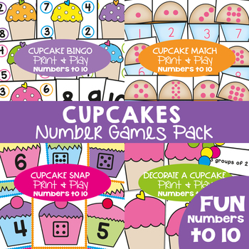 Cupcake Numbers to 10 Games Pack