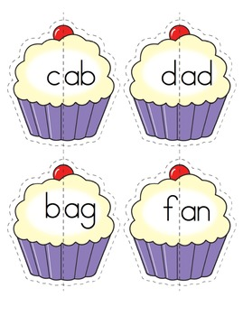 CVC Words - Cupcake Matching