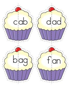 CVC Words - Cupcake Matching