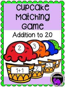 Cupcake Matching Game: Addition to 20