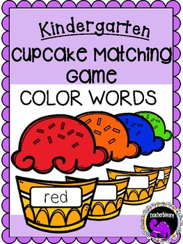 Cupcake Matching Game: Color Words