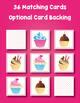 Cupcake Matching Memory Game