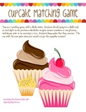 Cupcake Matching for Articulation, Fluency, & more!