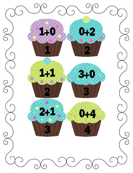 Cupcake Math Addition/Subtraction to 12 and more: Yummy in my Tummy Cupcakes