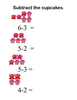 Cupcake Math -Count, Put the Cupcakes Together, Take the Cupcakes Away