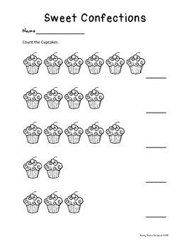 Cupcake Math Packet