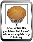 Cupcake Math Rubric