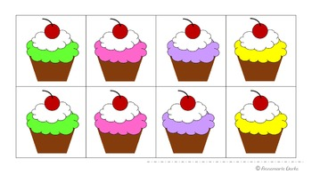 Cupcake Memory with colors